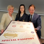 Colaiste Bride Carnew receiving their WWGS Global Passport