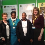 Eleanor Lee, Sarah Milunga, Nelson Makundi & Aileen Tennant @BT Young Scientist 2015